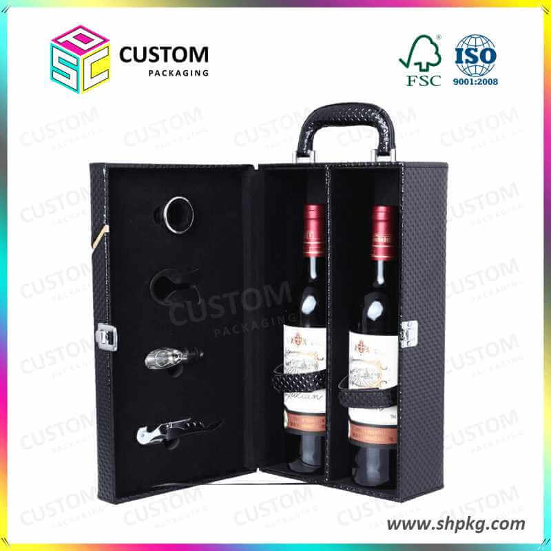 2 pack wine leather suitcase