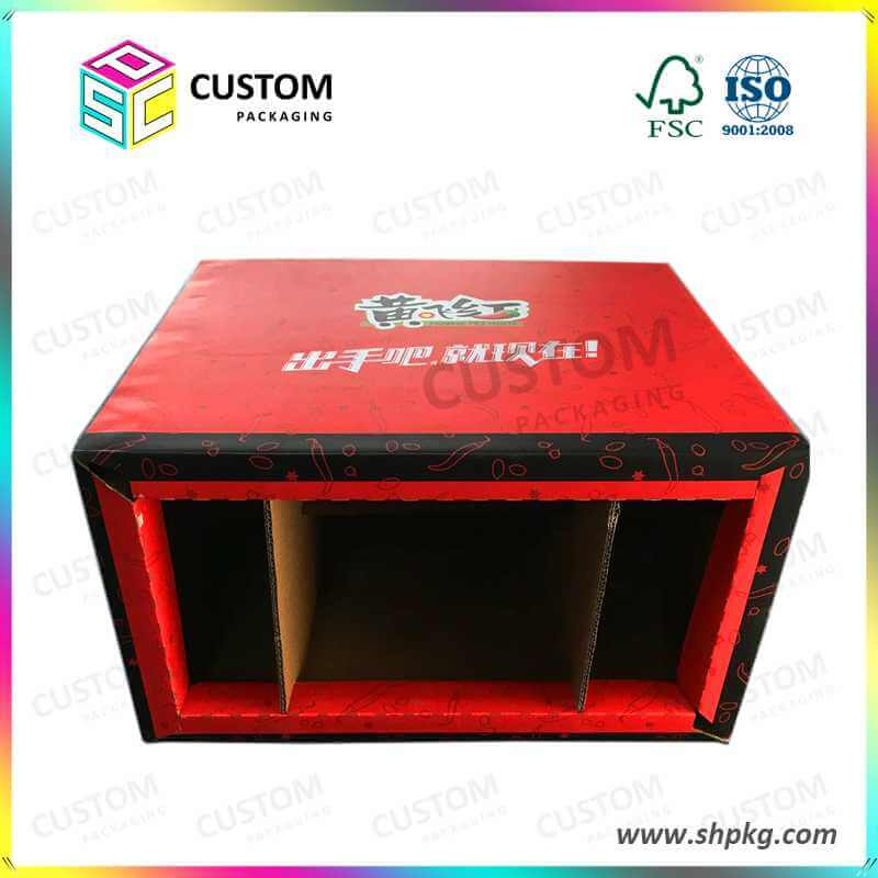 PDQ-Counter Paper Cardboard Retail Display Carton Box with Logo Printing