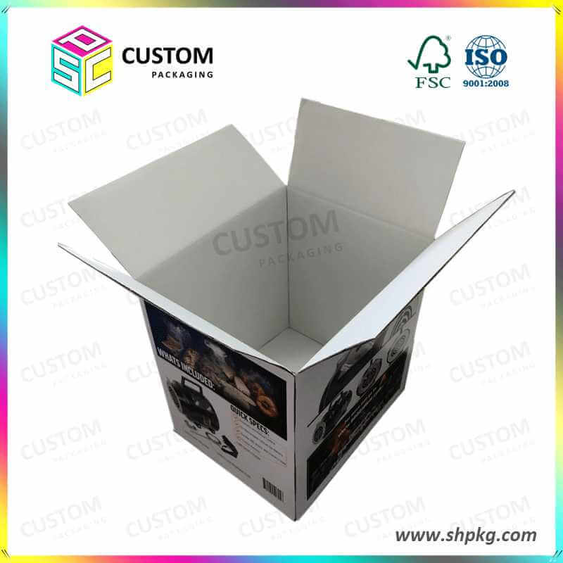 BBQ Heater Packing Box Double Side White