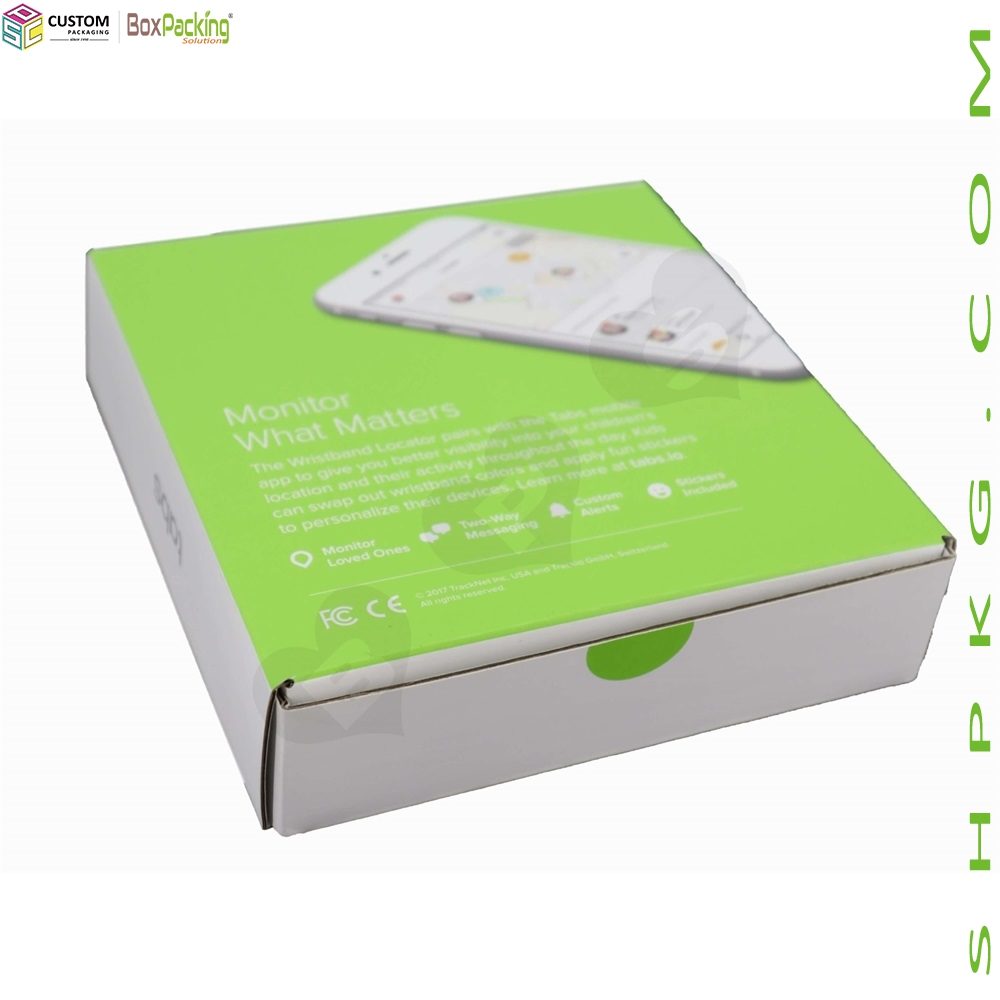 Color Printing Wristbands Mailer Box