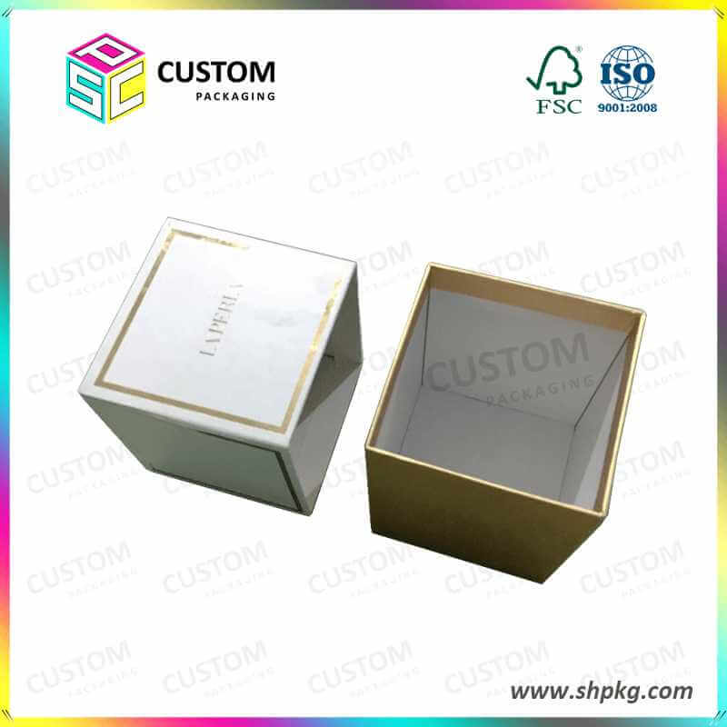 Cosmetic Packaging Box with Gold Stamping