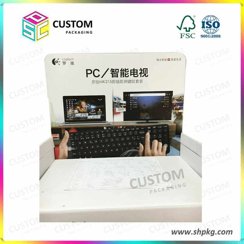 Custom Full Printed Display Boxes for Logitech Keyboards