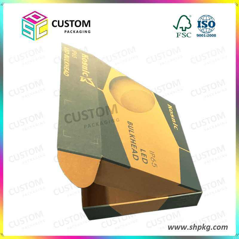 Customized Kraft Paper Box for LED Bulkhead Offset Printing