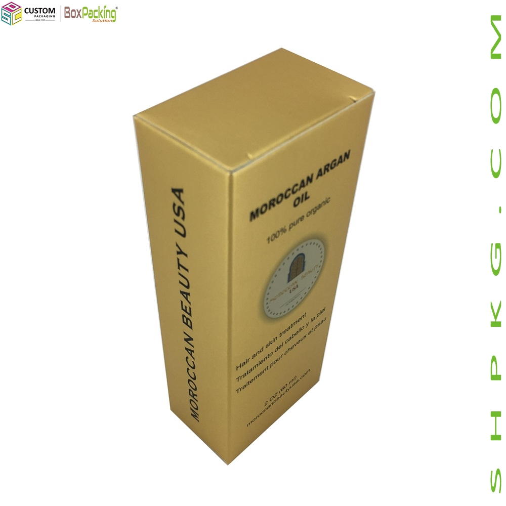 Customized Paperboard Box For Moroccan Argan Oil Lotion