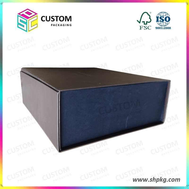 Foldable Rigid Cardboard Box with Magnet Closure