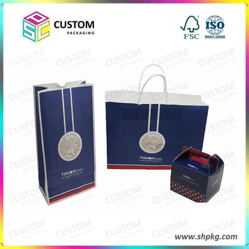 Light paper bag with handle