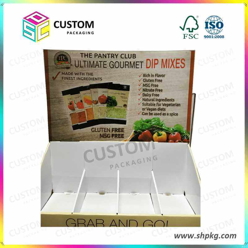 PDQ-Display Box for Dip Mixes Fruits and Vegetables