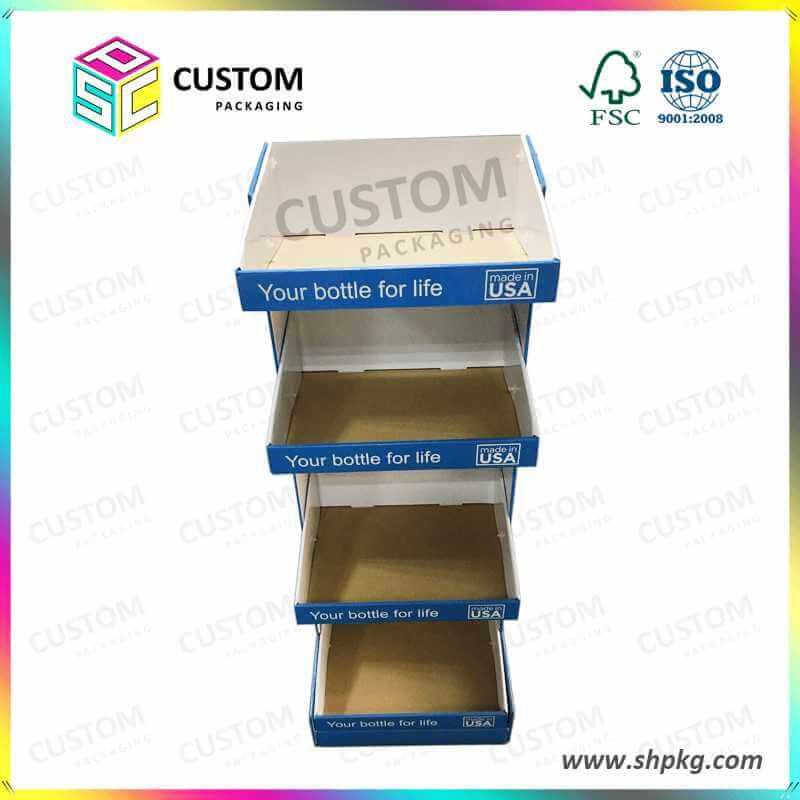Paper Counter Display Box with Ad Board Paper Display Box for Bottles