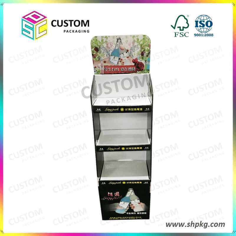 Paper Display Box for Vodaka Three Layers Customized Size and Printing