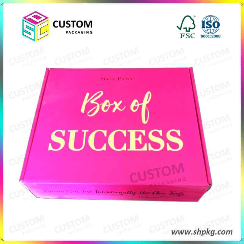 Pink Success Packaging Box
