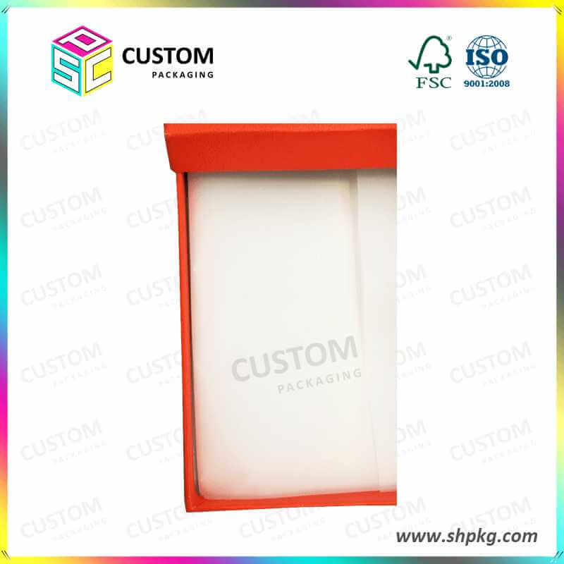 Red Scarf Rigid Cardboard Gift Packing Boxes