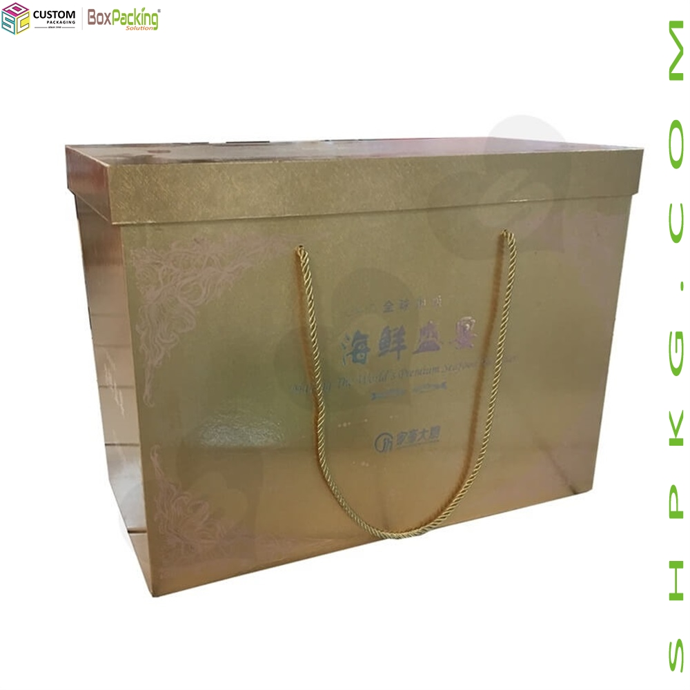Seafood Packaging Box With Handle