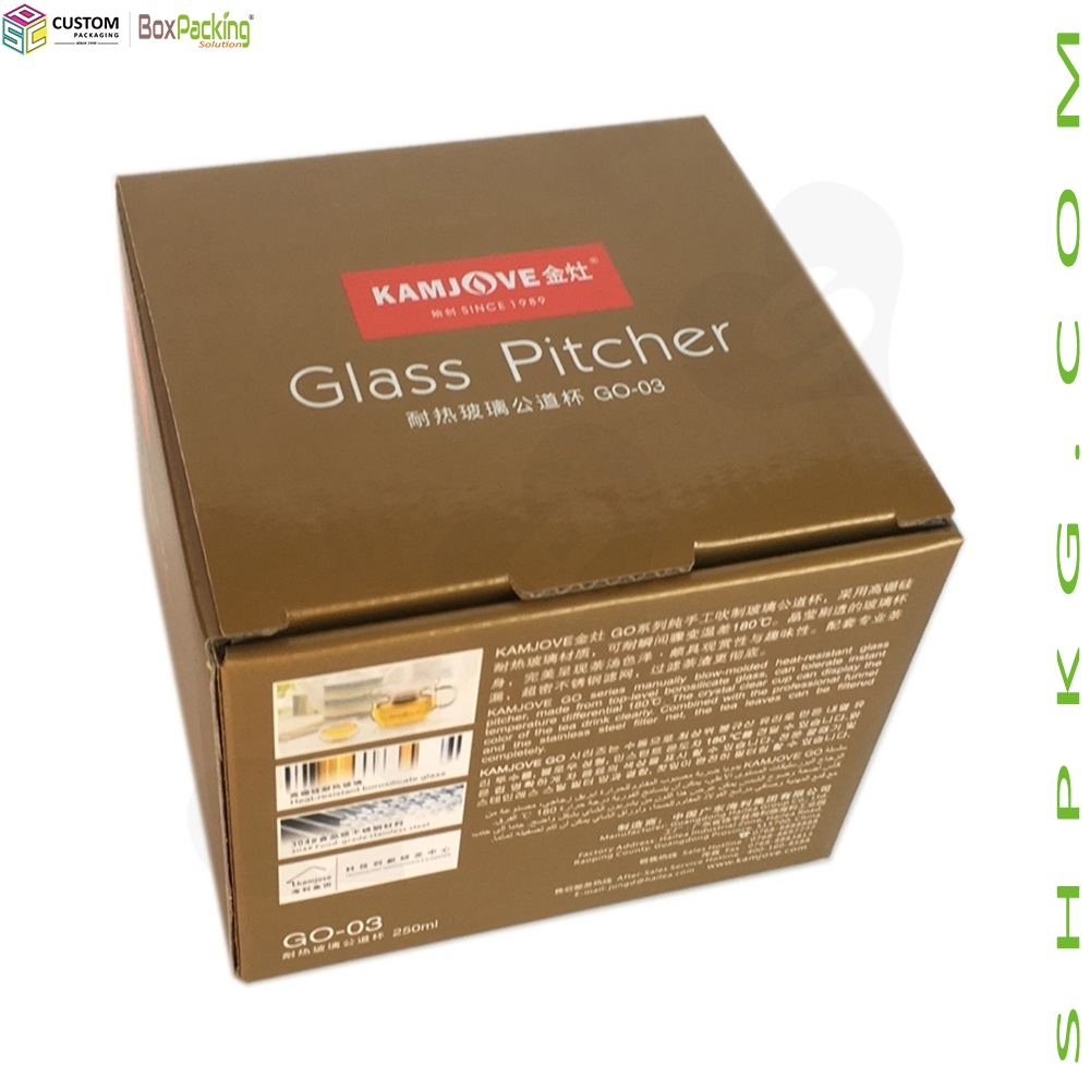 Square Packaging Box For Glass Pitcher