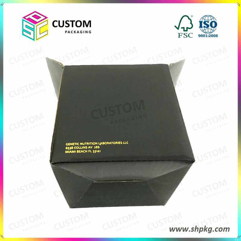Square Paper Box with Gold Stamping