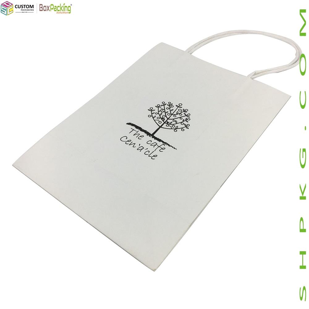 White Kraft Takeaway Coffee Bag-Shanghai Custom Packaging