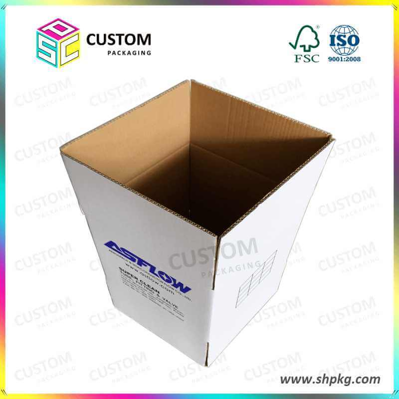 White Flexo Printed Box for KOREA