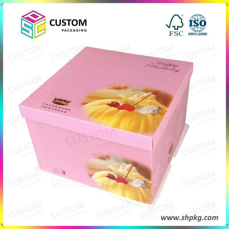 Birthday Cake Box With Lid Paper Box Cardboard Boxes Packaging