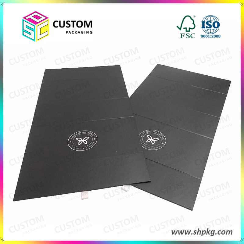 Black Foldable Packaging Boxes
