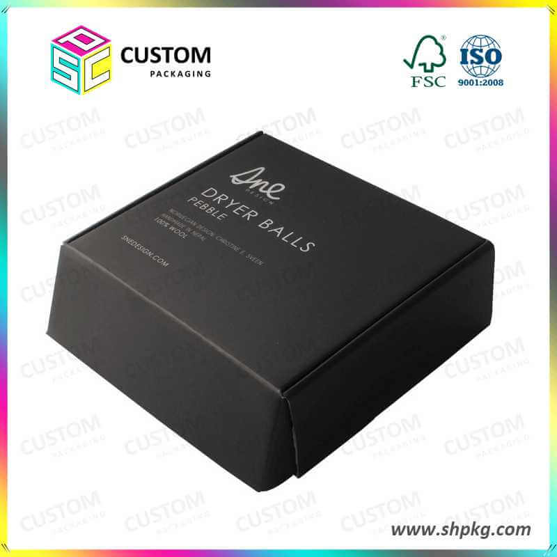 black printed corrugated boxes