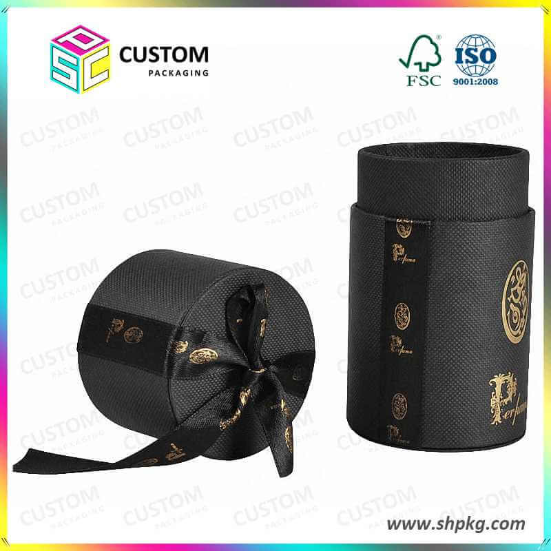 Black Round Tube Packaging Tube Gift Box