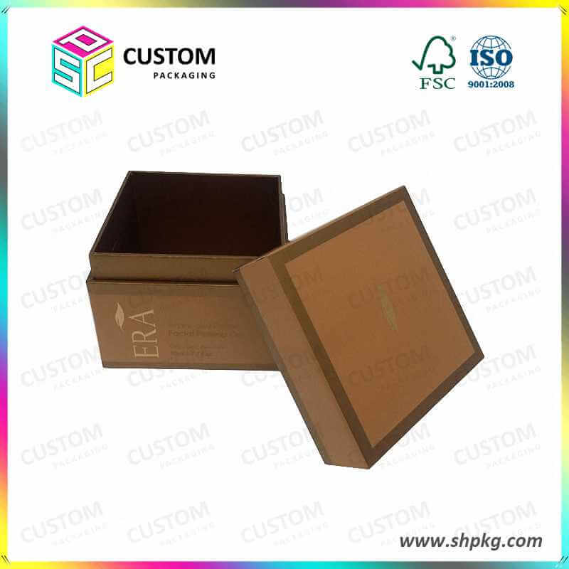 Brown Gift Boxes With Seperate Lid