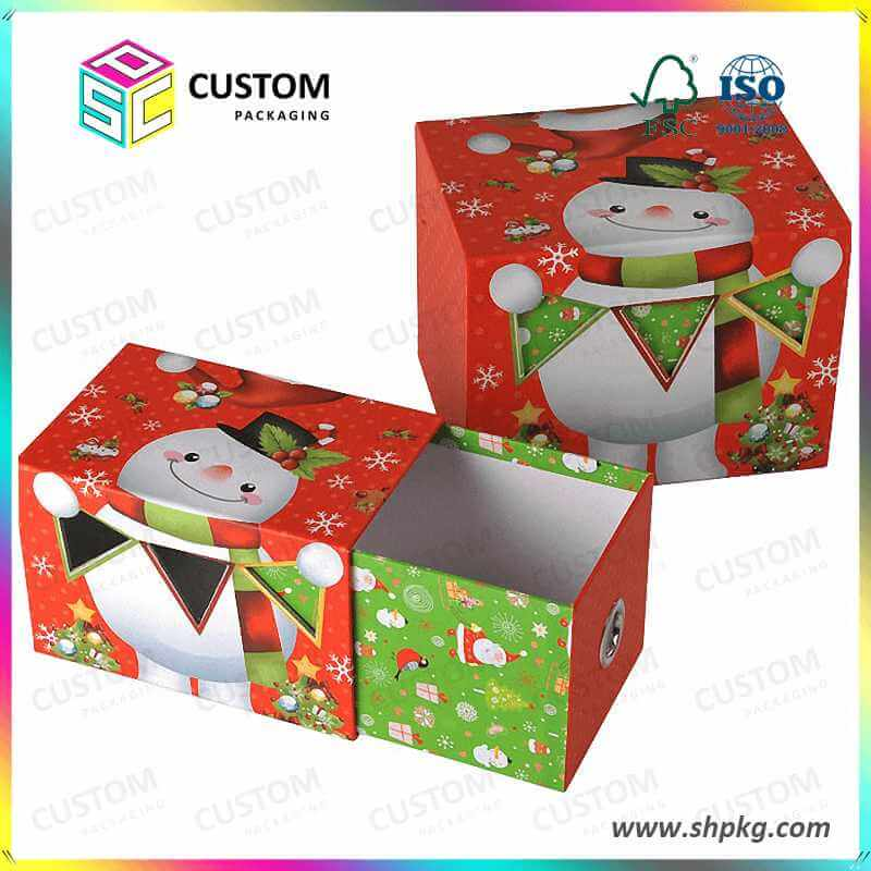 Drawer Shaped Christmas Cardboard Box