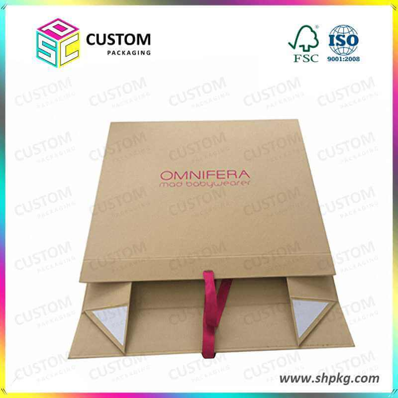 Collapsible rigid box ribbon closure