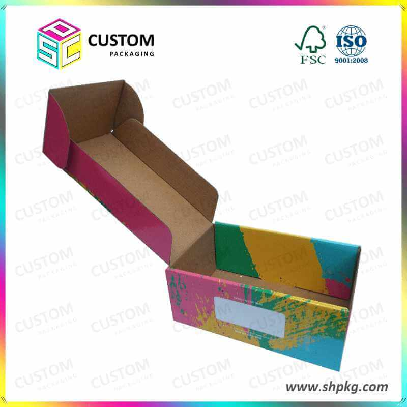 colourful small cardboard boxes