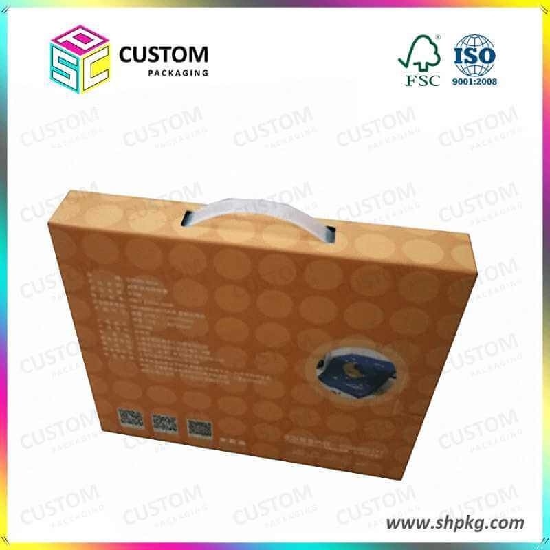 corrugated gift box with handle