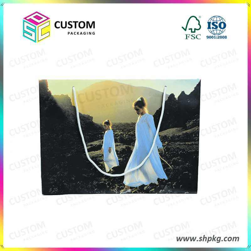 customized design printed paper bag