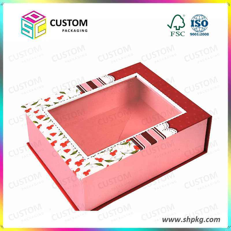Gift box with plastic window