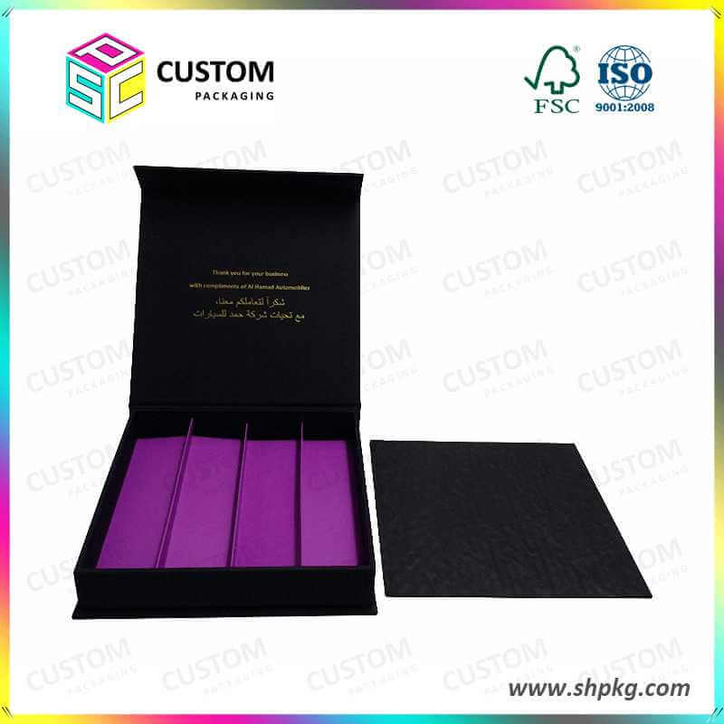 Gift boxes with coloured inserts wholesale