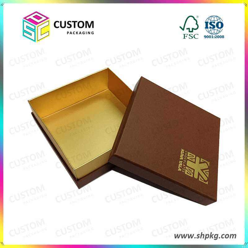 gold gift box package