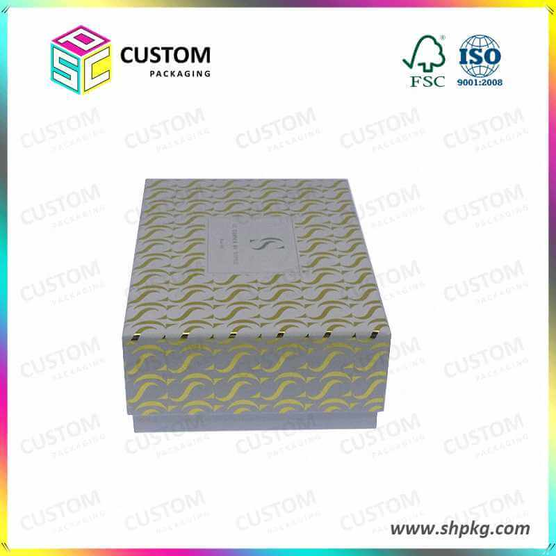 high quality gift paper box spot gold stamping