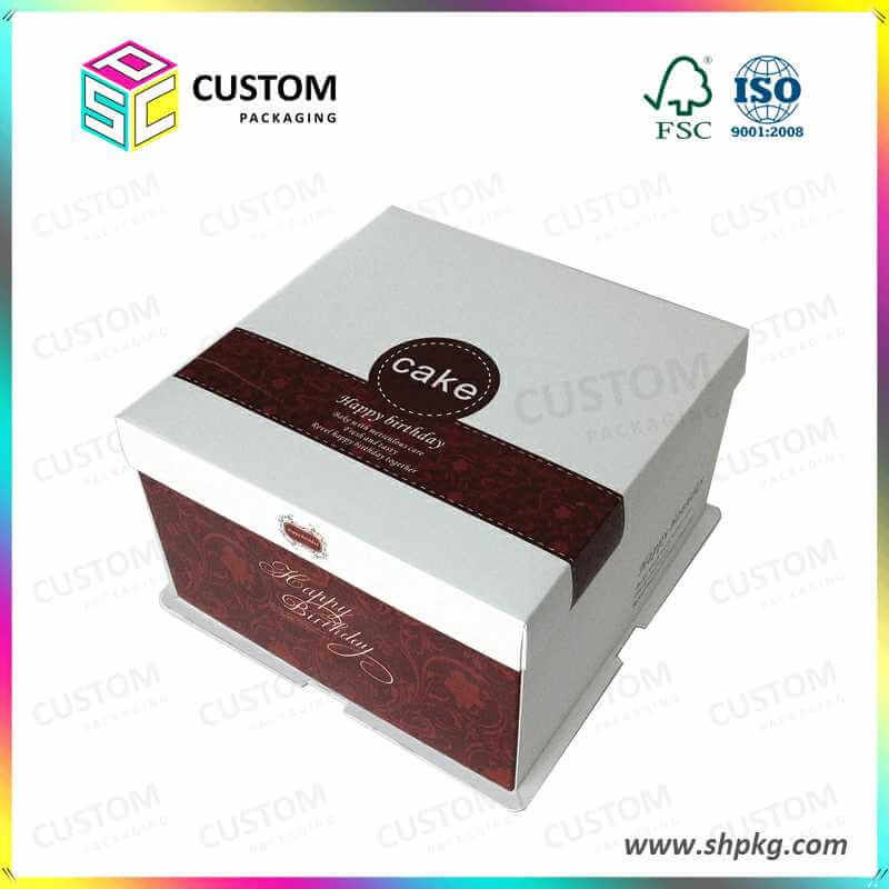 high quality white cake box