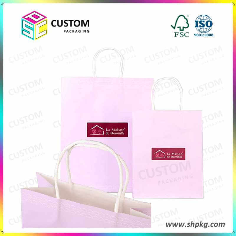 light pink paper bag