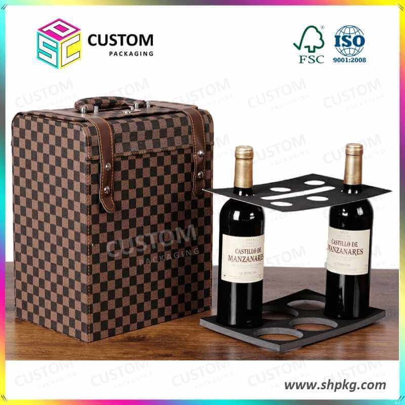 luxury leather box for wine