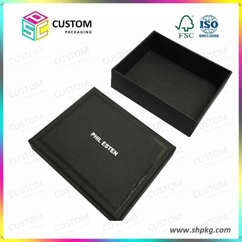 Matt finish black gift box