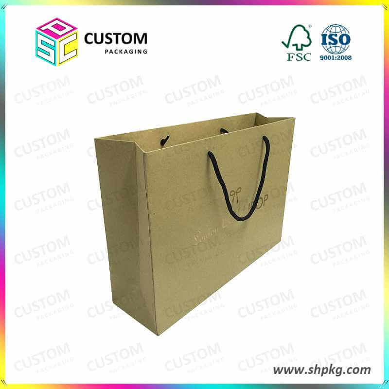 Paper box in shopping bag