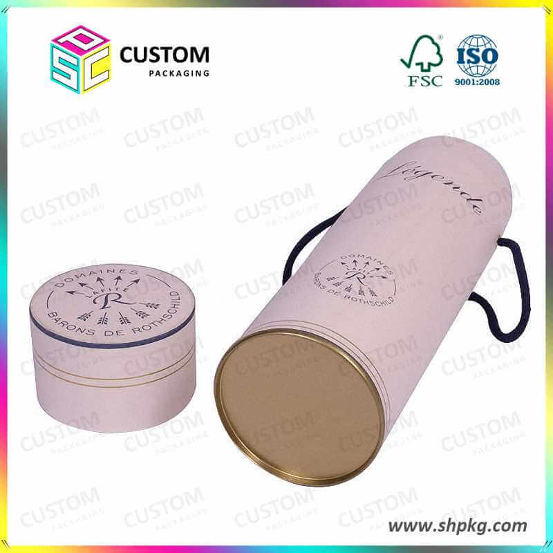 Paper tube box for wine