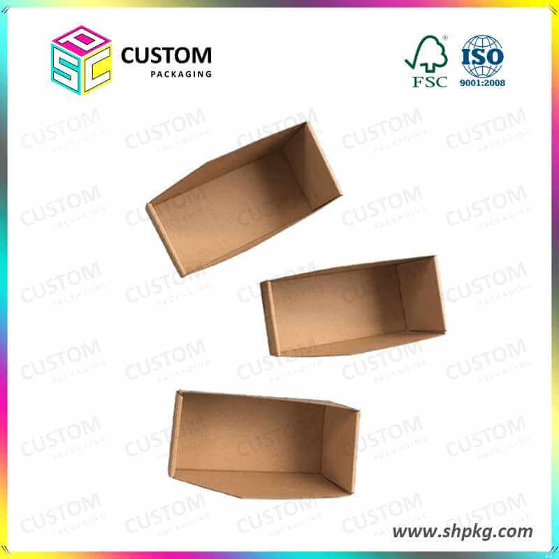 plain display cardboard tray