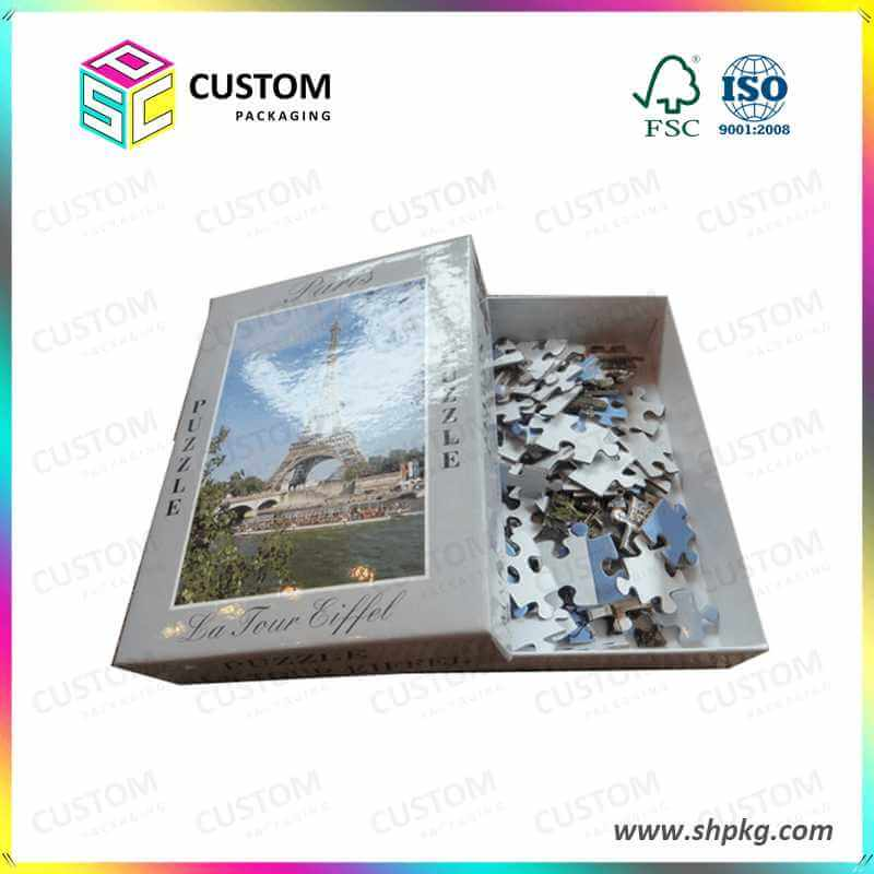 puzzle with gift box packaging