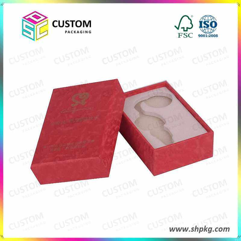 Red gift box with rfoam inside