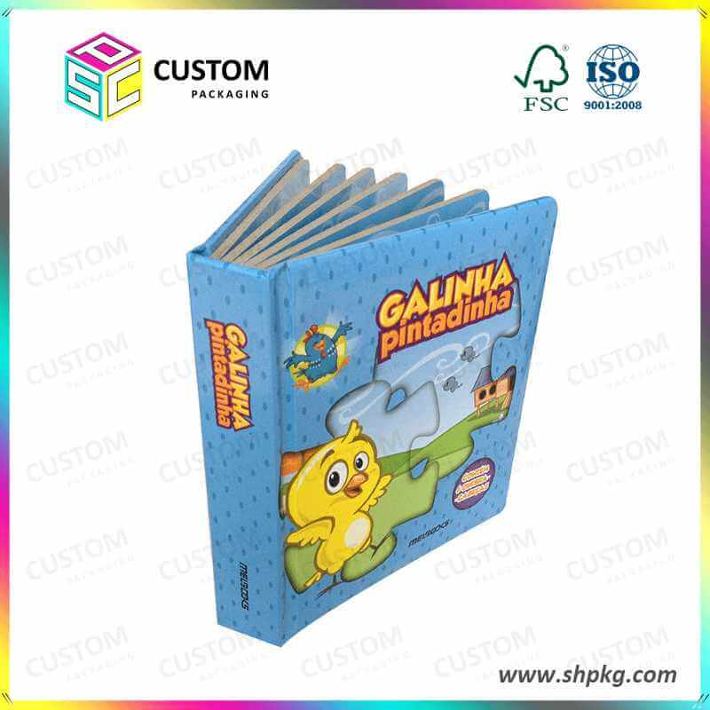 rigid cardboard children reading book
