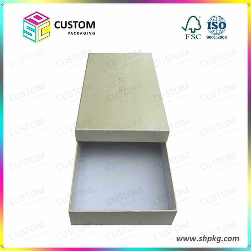 Rigid paper box with teture paper