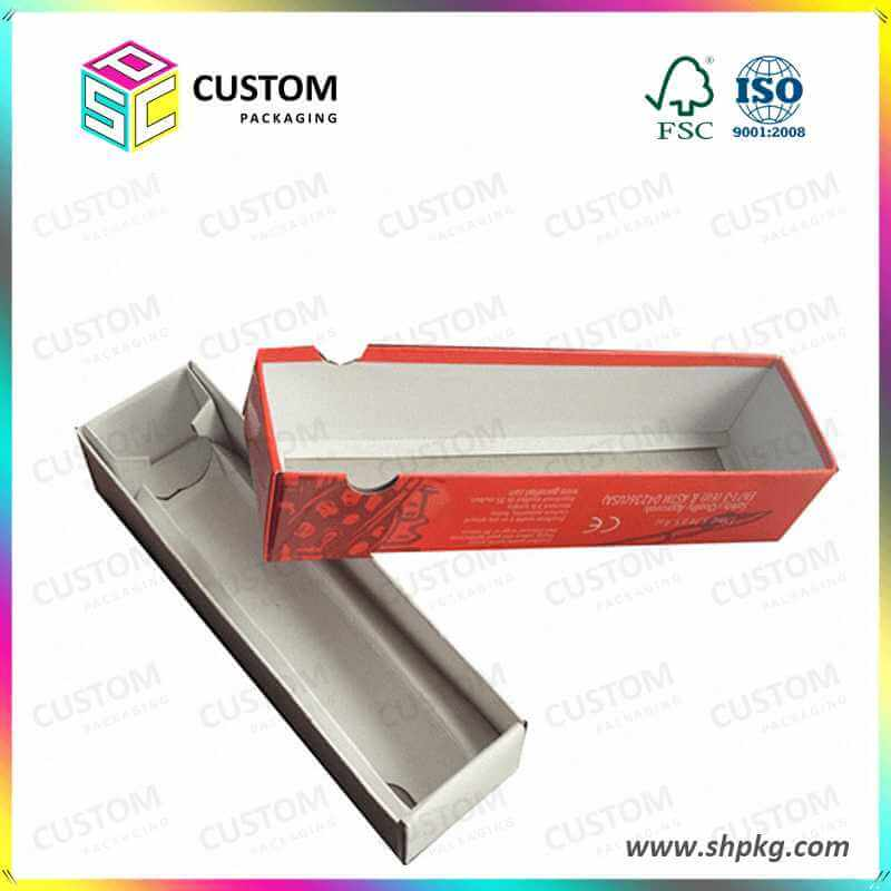 telescope paper box with finger hole
