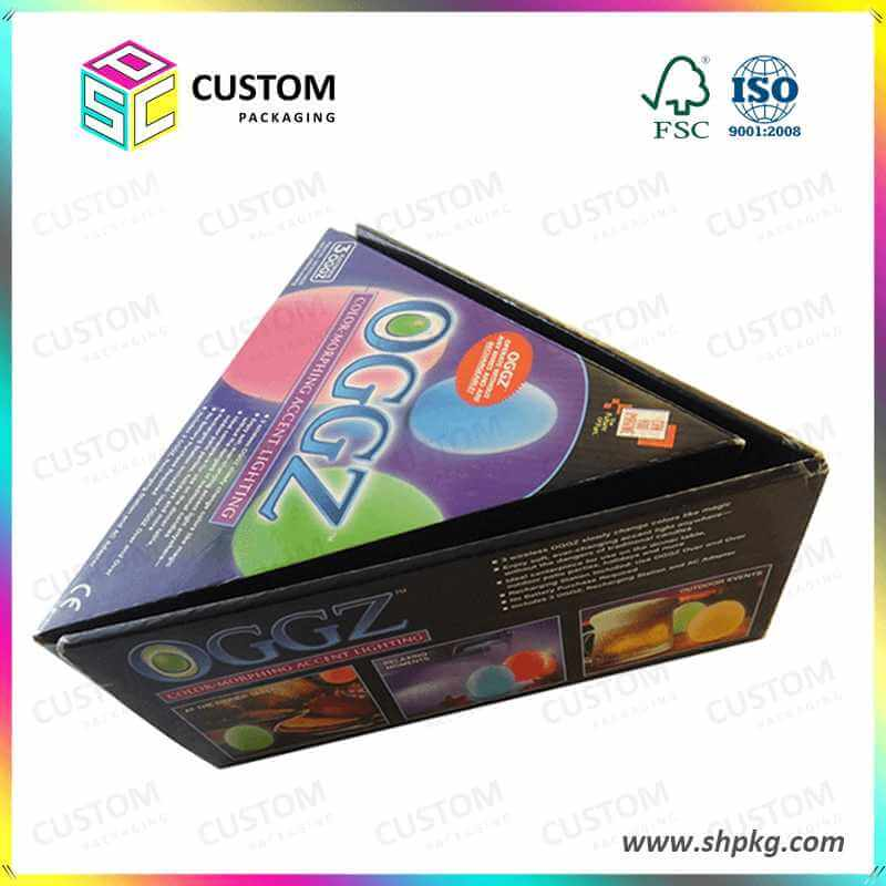 triangle packaging carton box