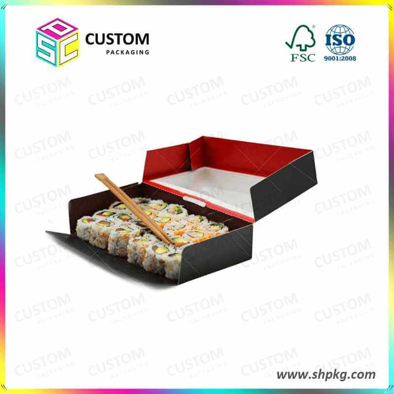 tuck top sushi box